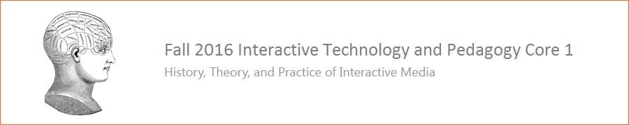 Fall 2016 ITP Core 1 Course